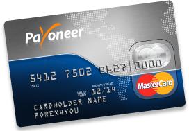 Met een Payoneer-debitcard trek je je Amazon-royalty's uit de geldautomaat.