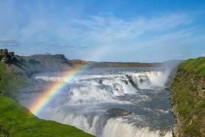 Gullfoss waterval bezienswaardigheid ijslad