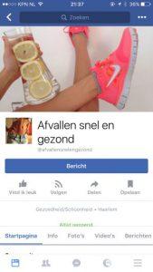 geld verdienen facebook afvallen