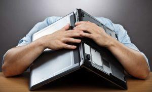 laptop frustratie