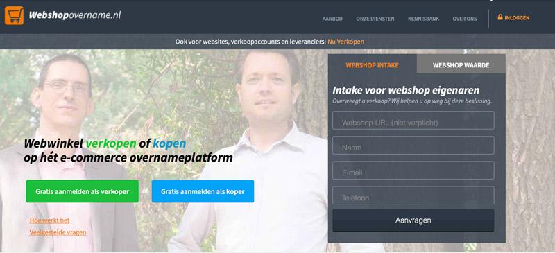 Je website of webshop verkopen via Webshopovername.nl ?